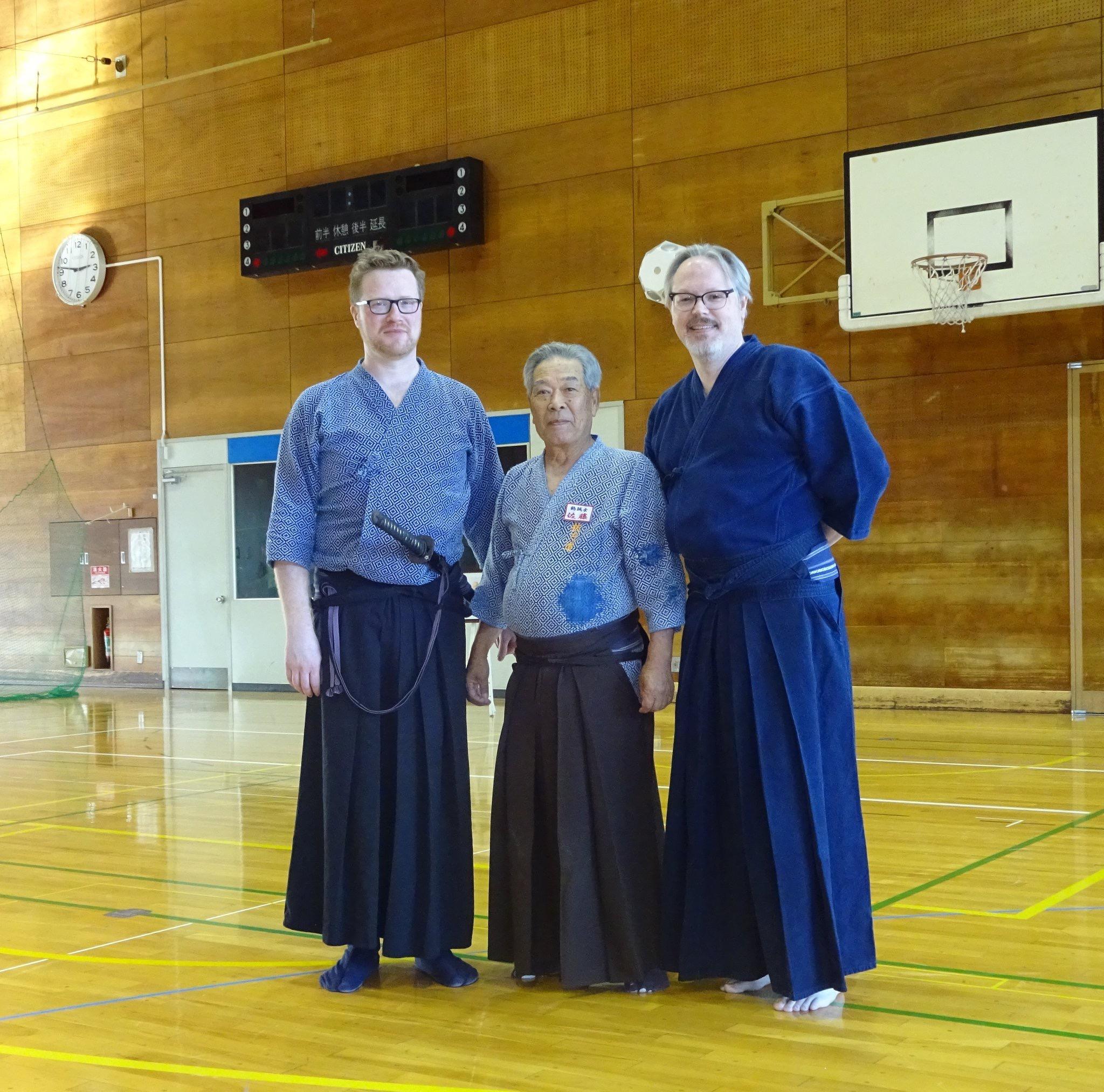 Tex with Sato Seiji Sensei and Matt S.