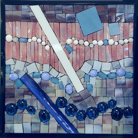 """Abstract"" by Nataliya Guchenia Glass Size - 8 3/8""H X 8 3/8""W $175.00"