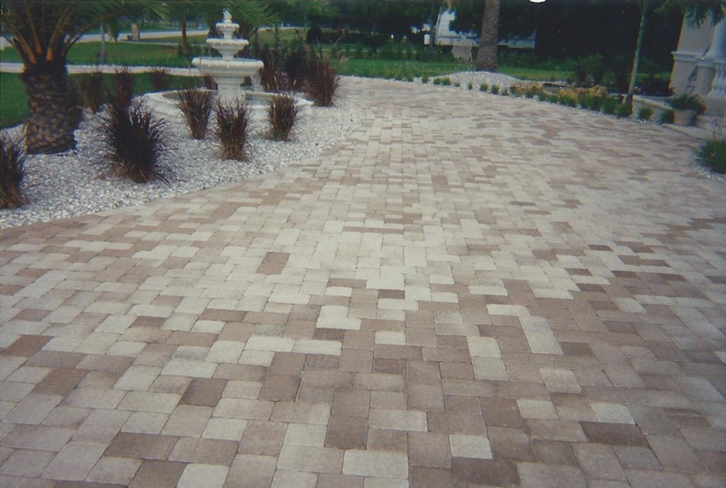 Colorful stone pavers