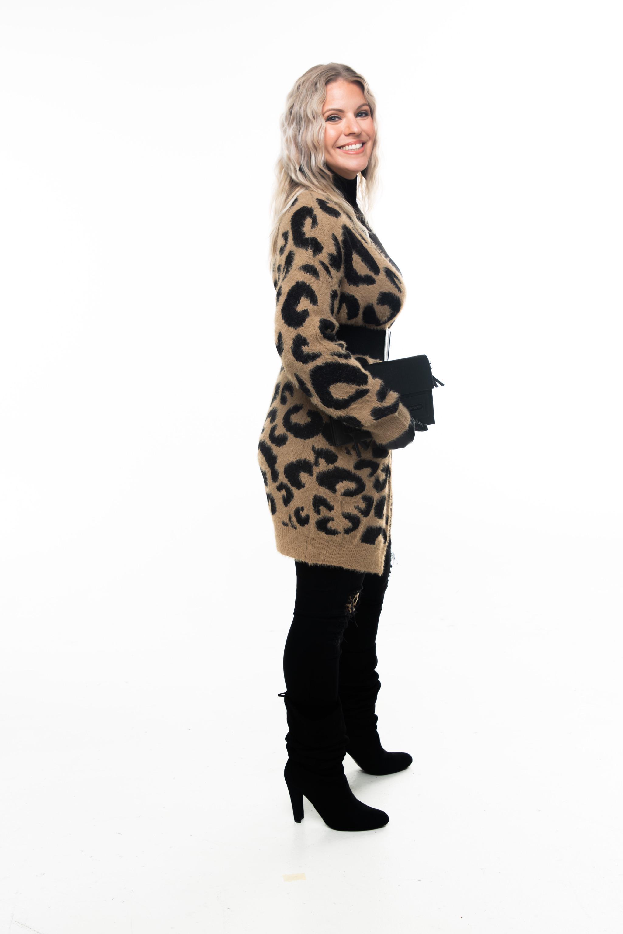 Khaki Leopard Print Cardigan
