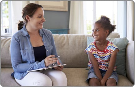 Girl Talking With Counselor