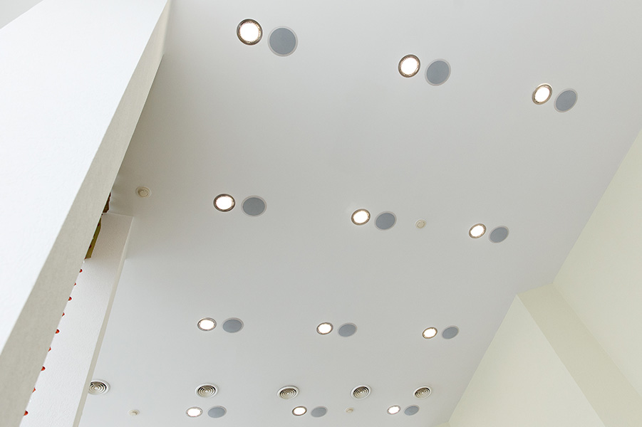 Ceiling with Embedded Lights