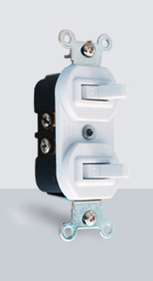 004-BC Interruptor doble p/Placa Blanco