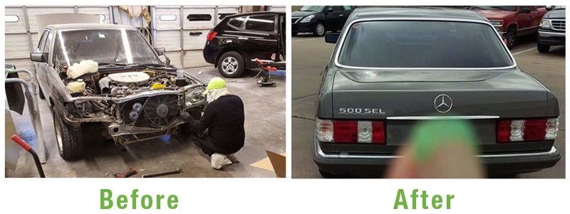 Mercedes Before and After