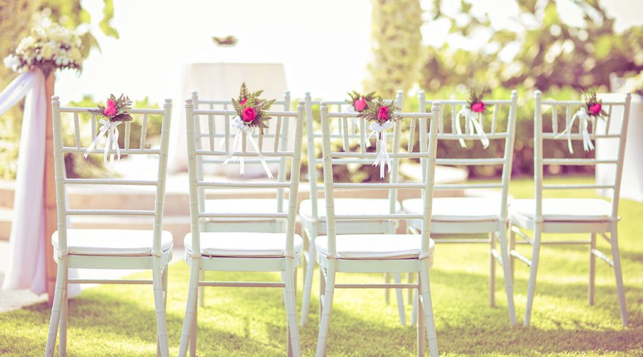 Wedding Set Up in Garden