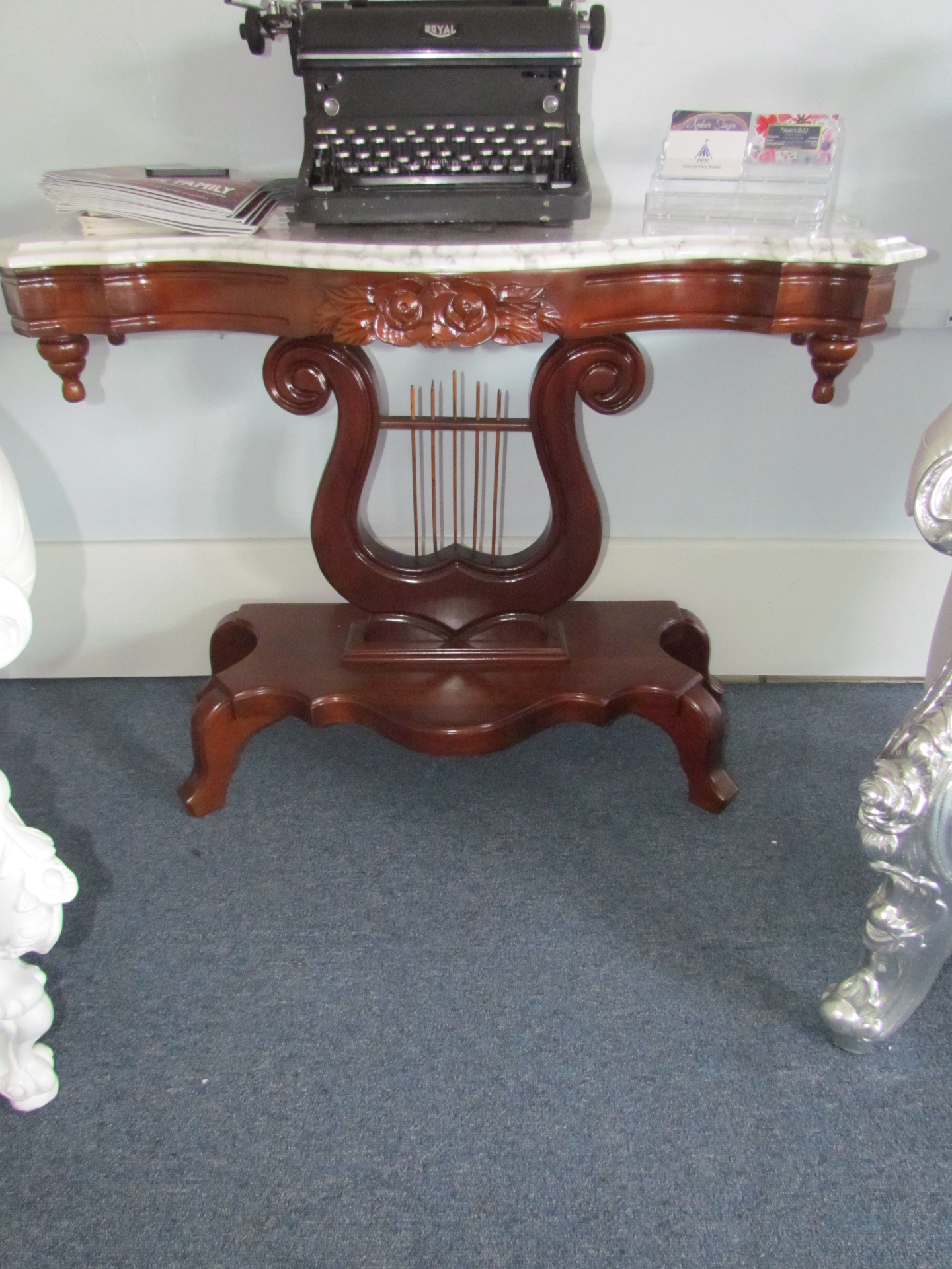 Marble Top Harp Credenza $30 / Day