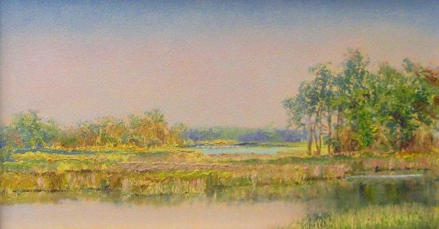 10. Horsehead Marsh, Evening, 3 3/4x6 3/4 oil on panel