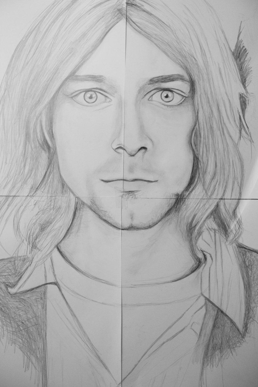 Kurt Cobain, graphite.