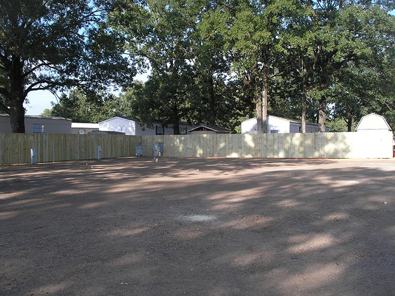 Fenced rv area