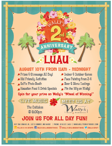 Meet us at Wally's and help us celebrate 2 AMAZING Years!