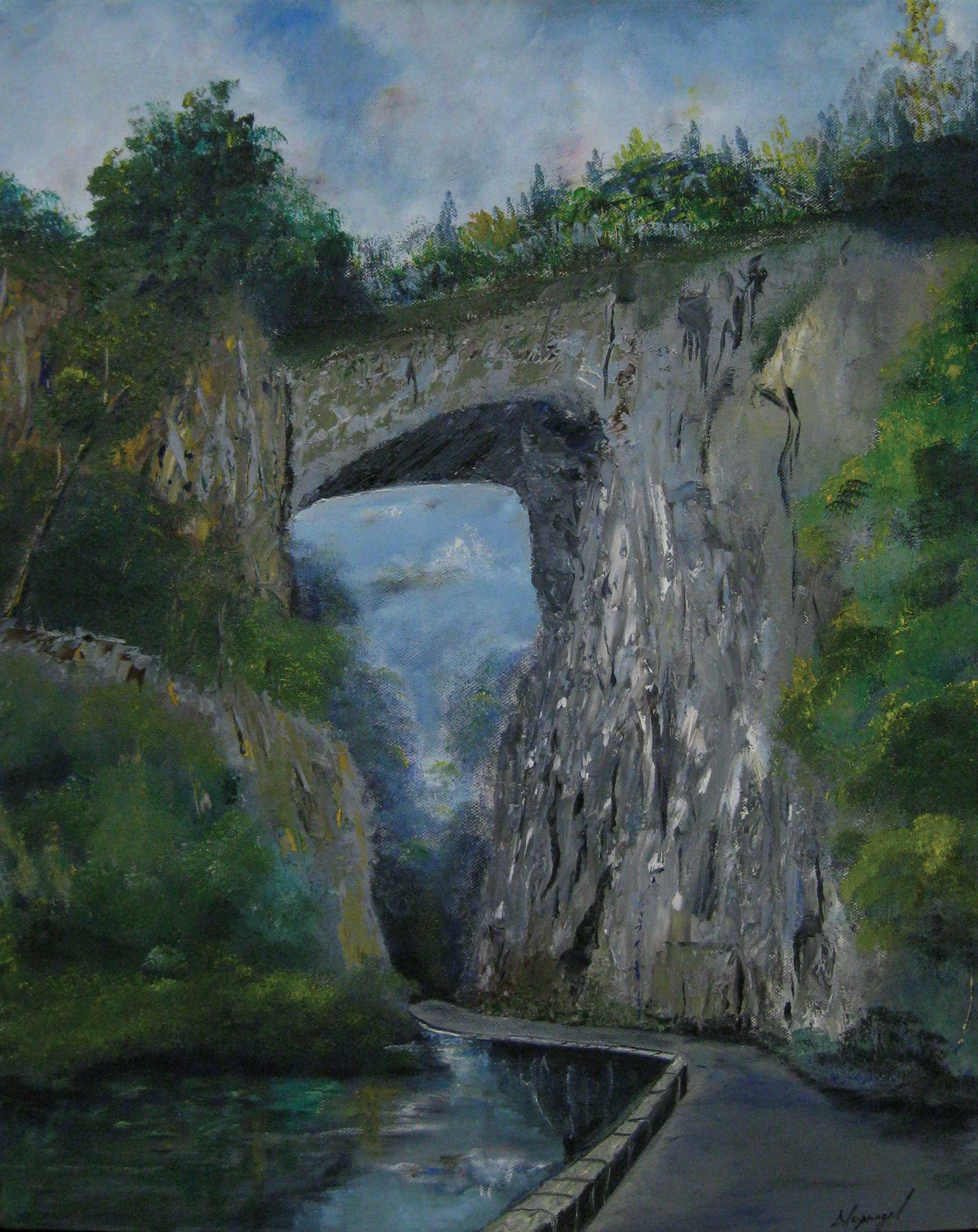 Natural Bridge, 24 x 18 Oil