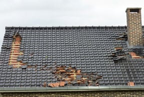 Damaged Roof to be Repaired