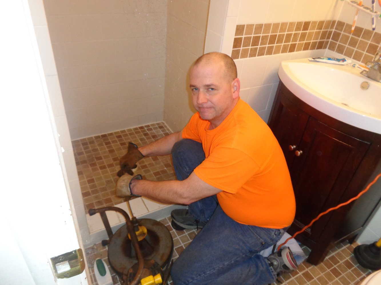 Master shower drain cleaning