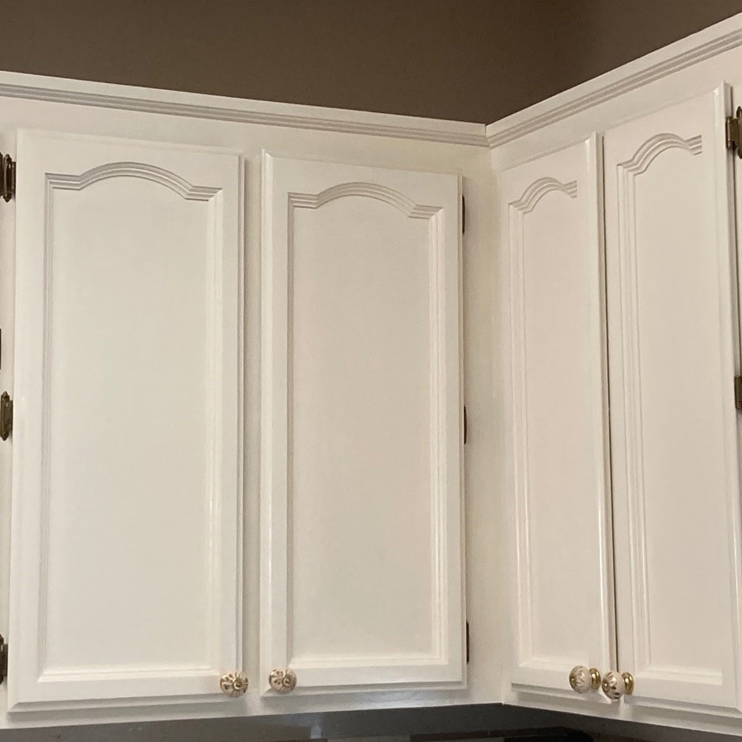 Oak Cabinets to a Beautiful Enamel Finish