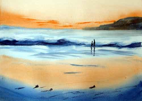 Sunset Beech, Wales ...... Watercolour