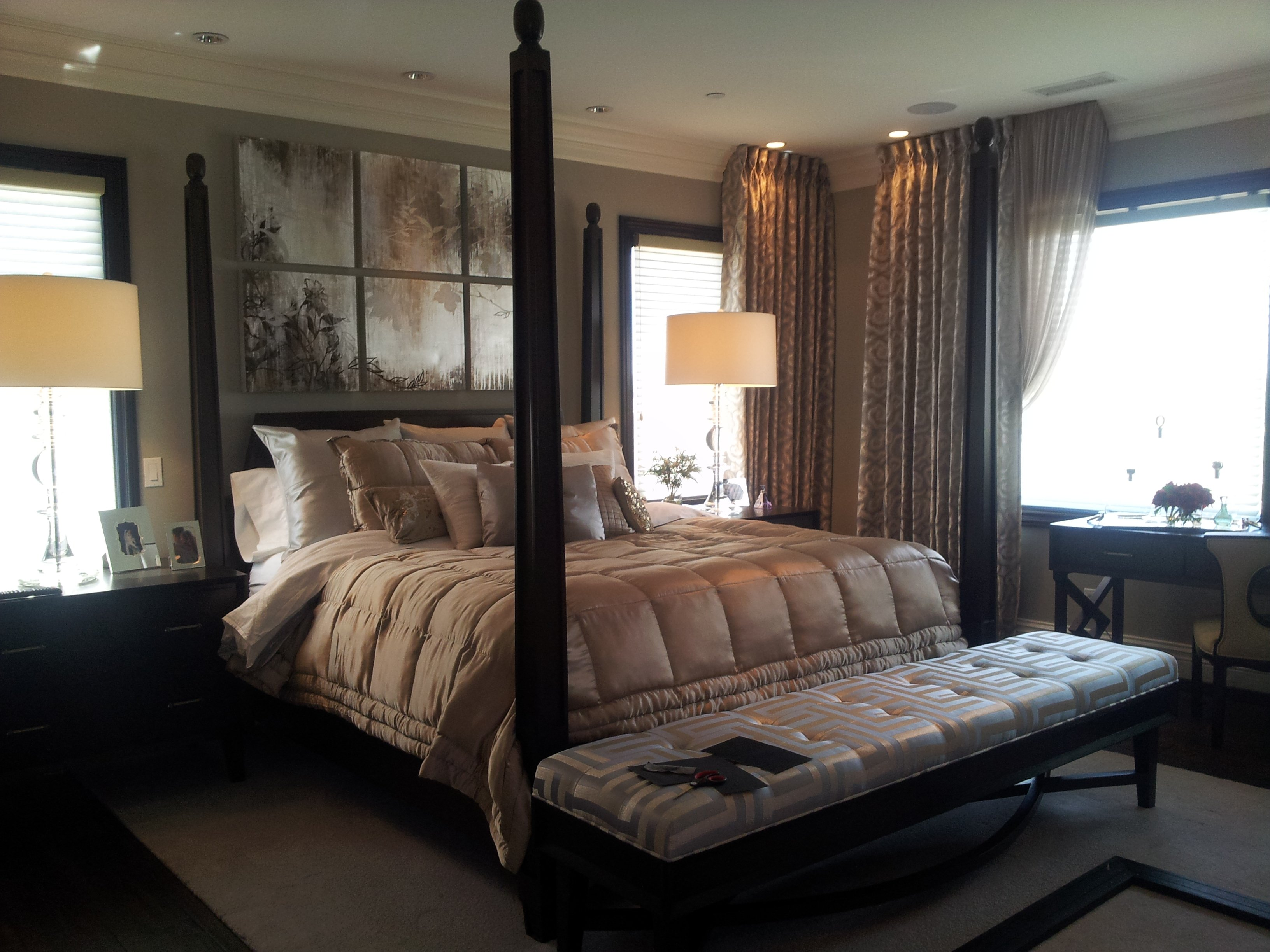 "custom bed, bench, night stands and jewelry chests designed by Robeson Design ""Rebecca Robeson"""