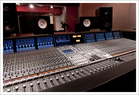 Recording studio with mixing console||||