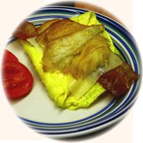 Croisant and Egg Sandwich