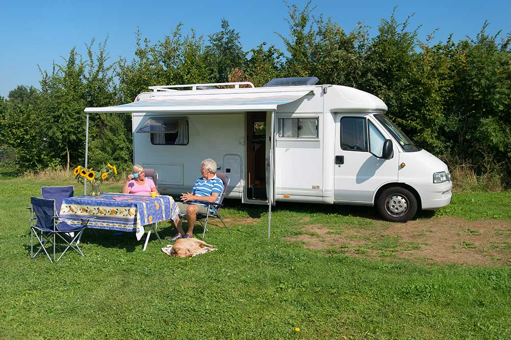 Couple with Mobil Home