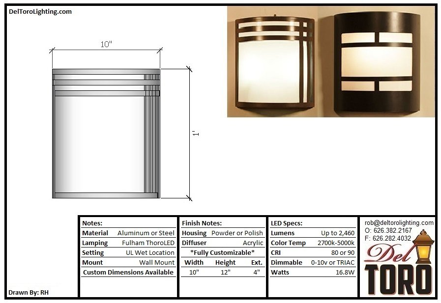 550W-Shield Wall Sconce