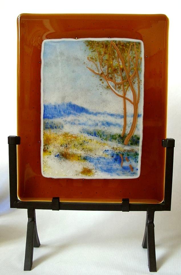 """""""Thaw"""" by Urii Guchenia Glass Size - 10""""H X 8""""W $300.00"""
