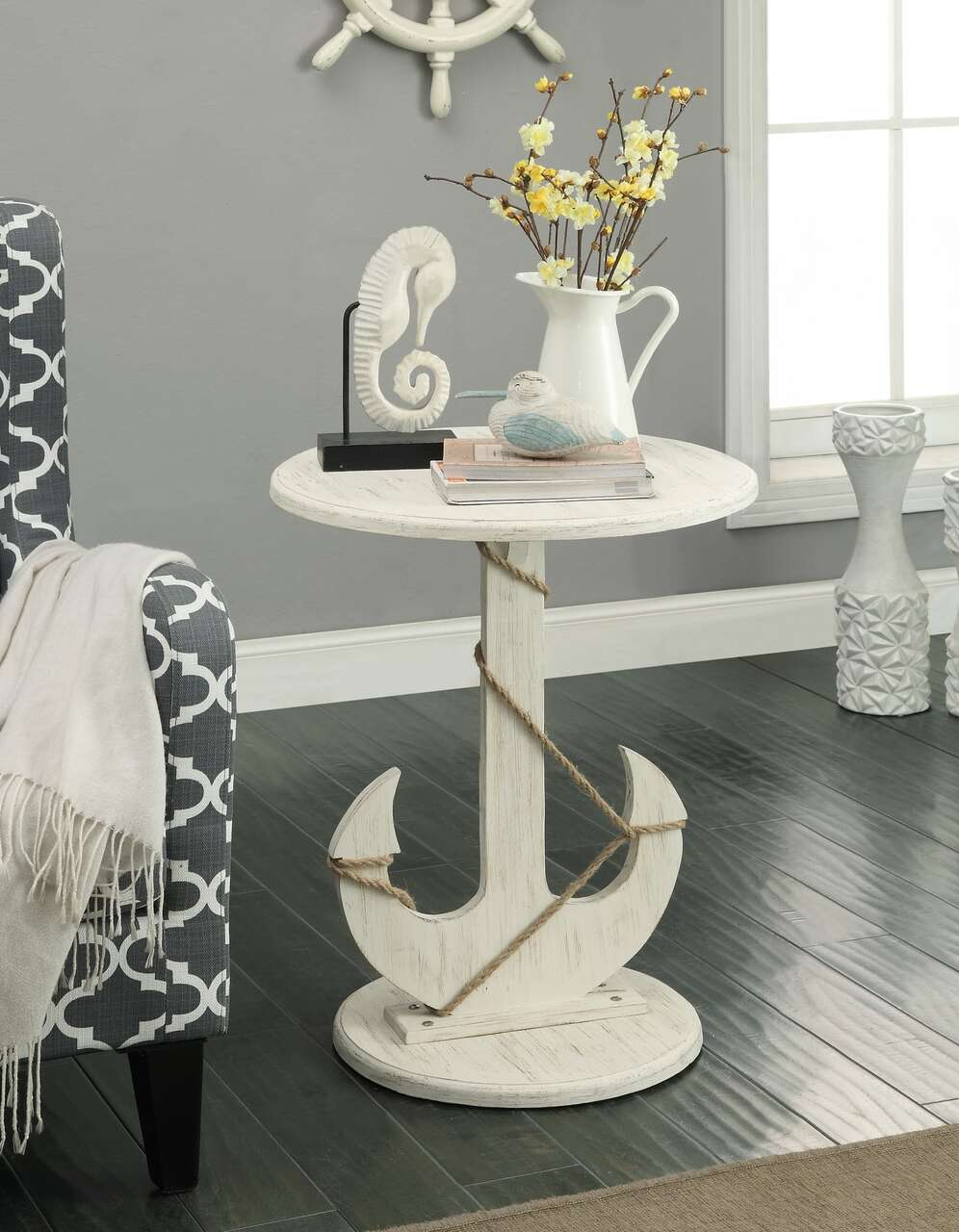 91749 Anchor Accent Table by Coast to Coast