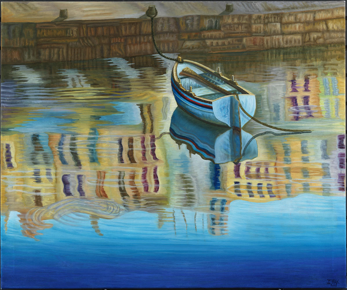 Reflections 30x36 original oil $3850 2009