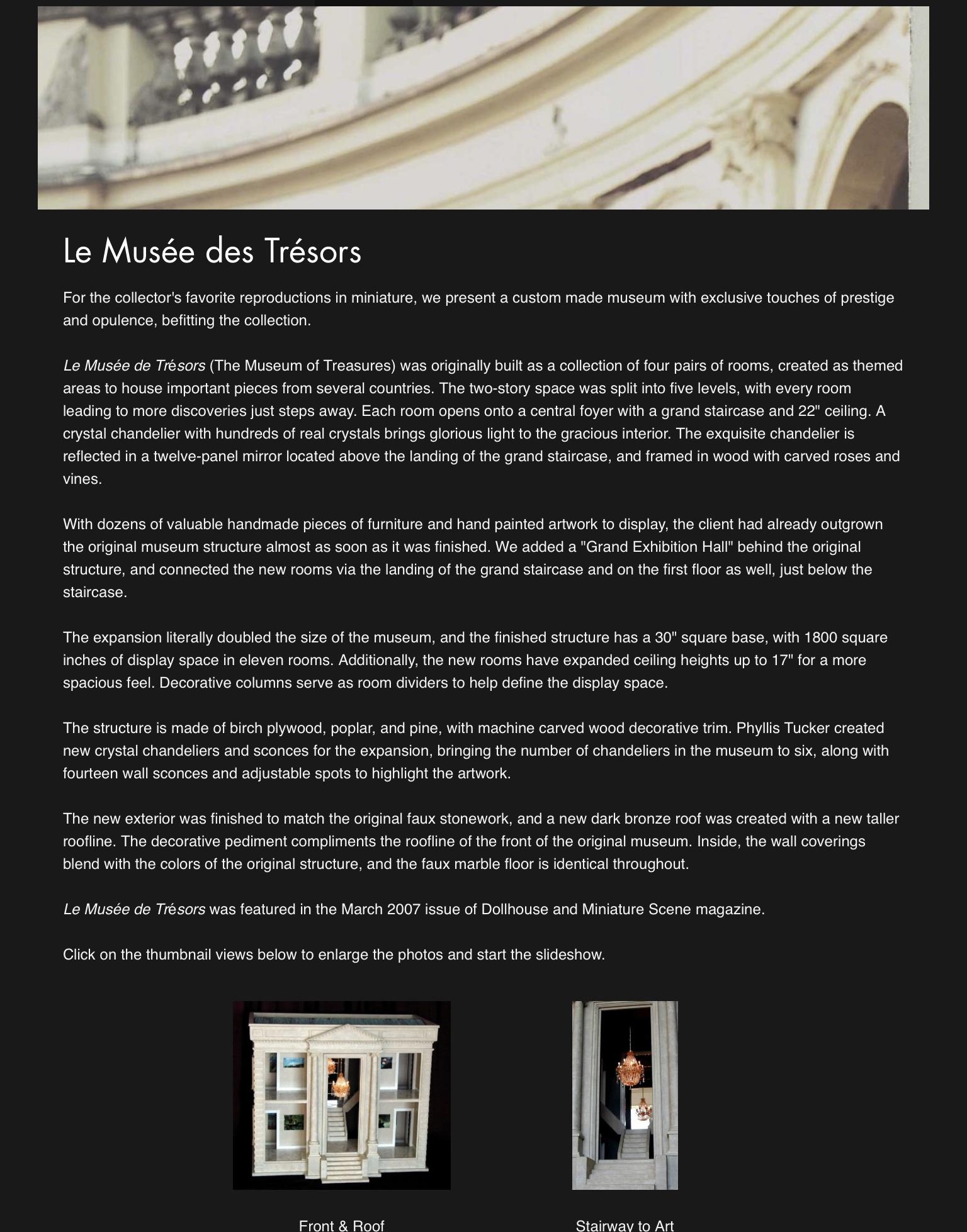 Le Musée des Trésors — 2002