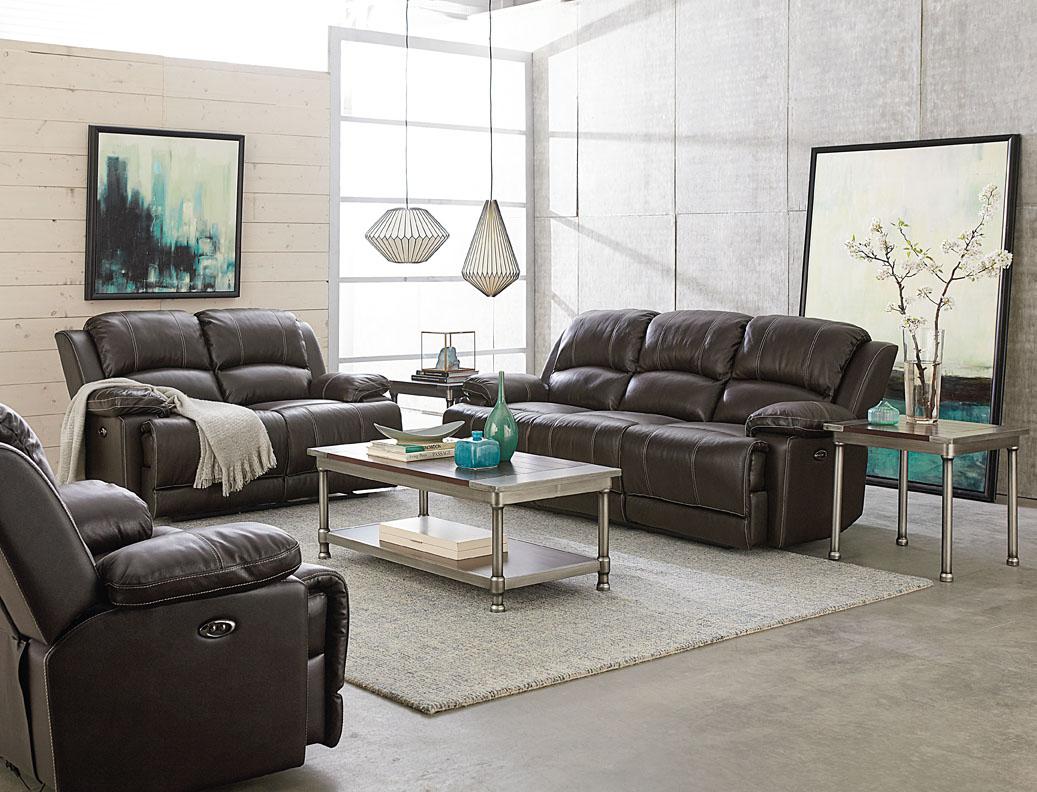 Edmond Sofa & Loveseat Set 100% Pure Genuine Leather