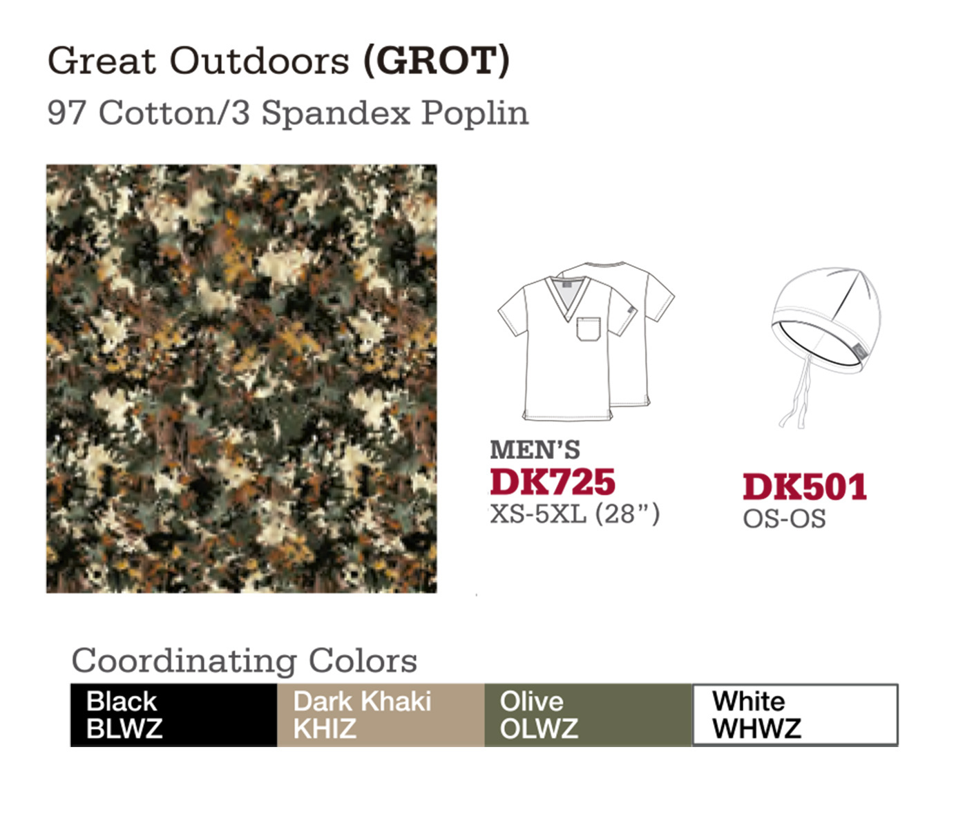 Great Outdoors. DK725. DK501.