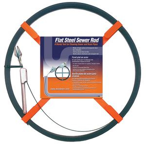 100' Flat Tape Sewer Rod $15/half $25/day