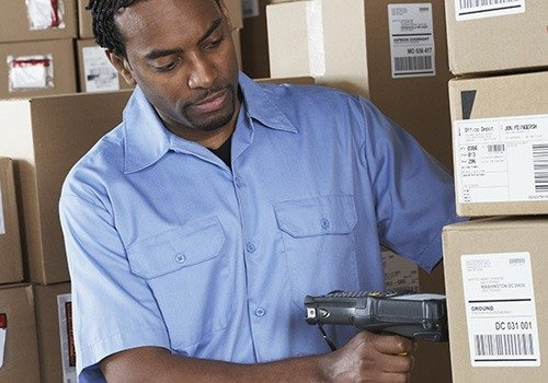 Worker Scanning Packages