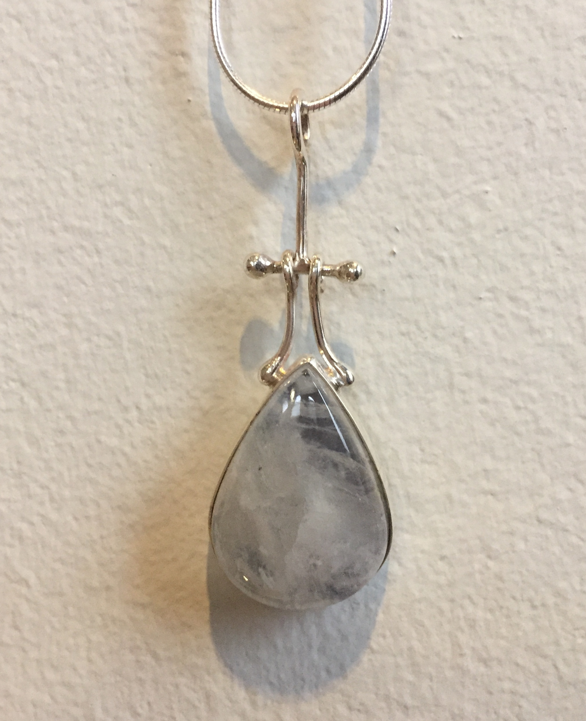 Moonstone Pendant moonstone and sterling $105. SOLD