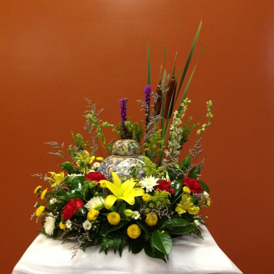 Fresh Flower Cremation Urn Arrangement