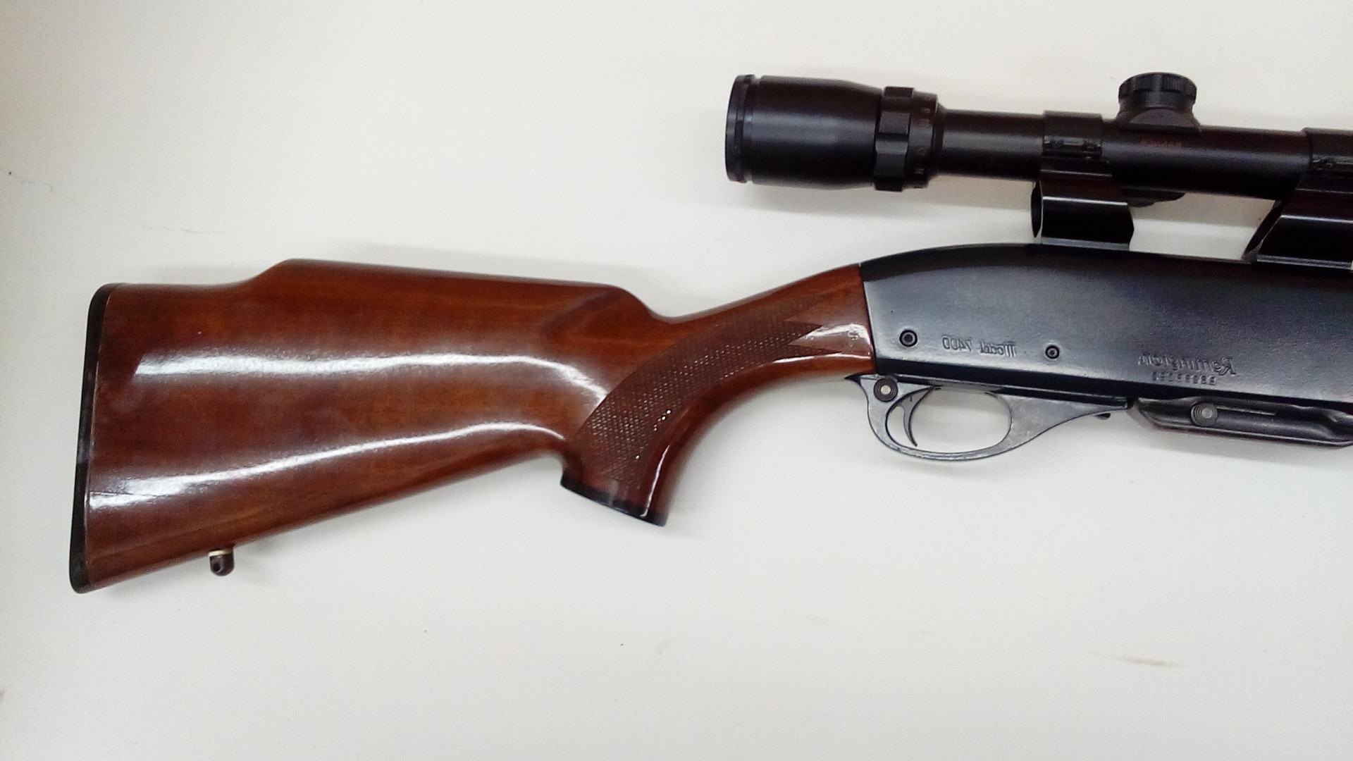 Remington 7400 stock refinished with high gloss polyurethane