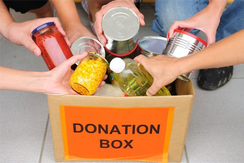 Food In Donation Box