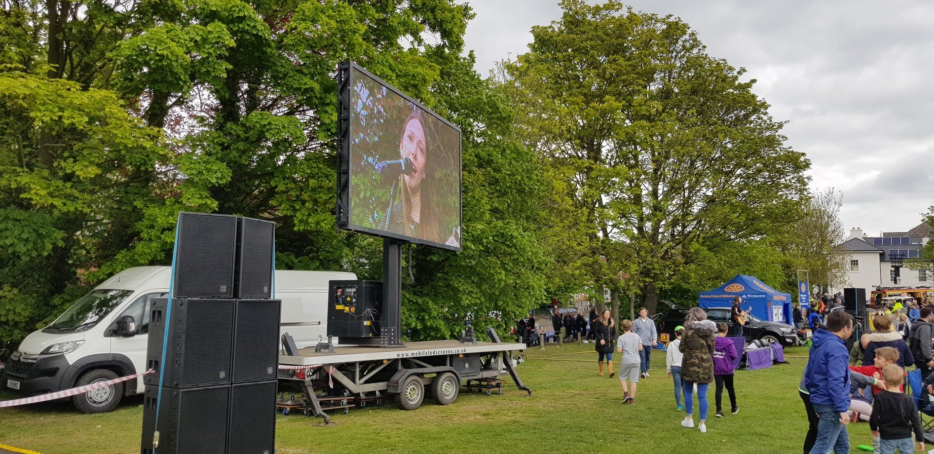 Outdoor event PA system hire