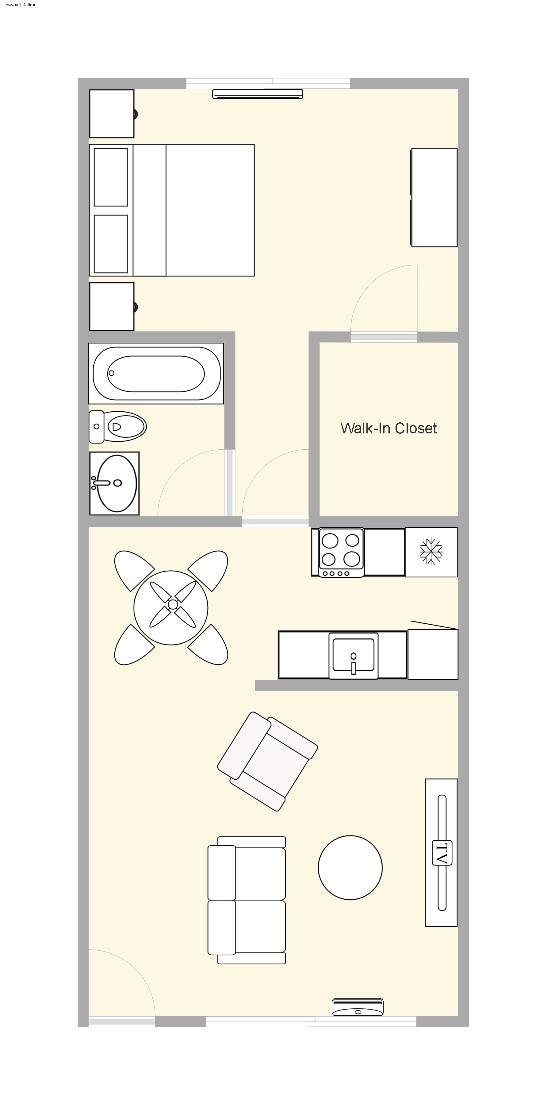 Floor plan (furniture not included)