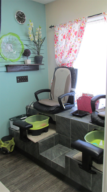 Haircutting and styling    