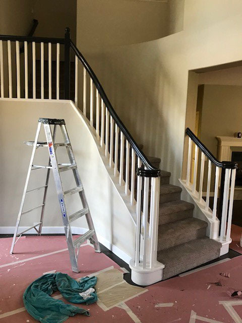 Newly Painted Staircase