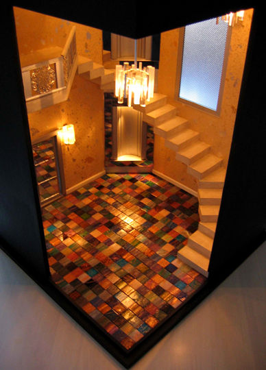Deco Geometry & Glass Mosaic Floor
