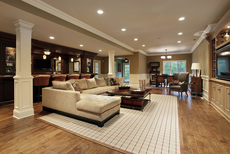 Modern living room design with table and sofas||||