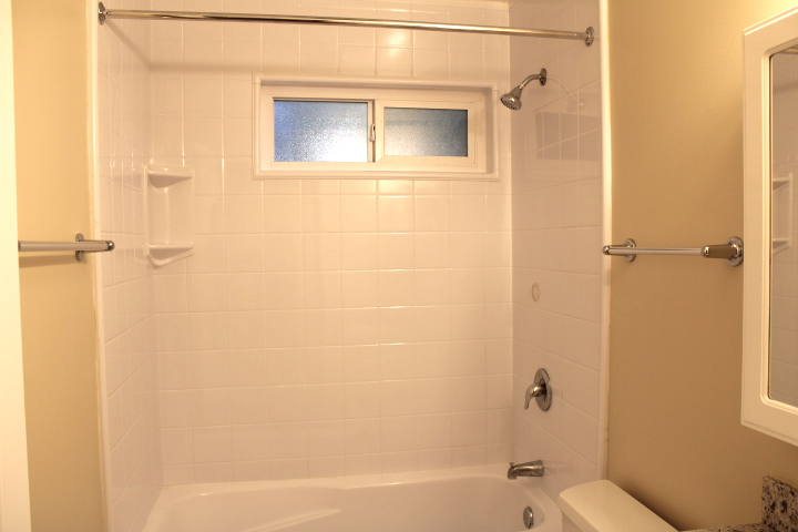 The shower area has a Bath Fitter liner (less grout to clean!)