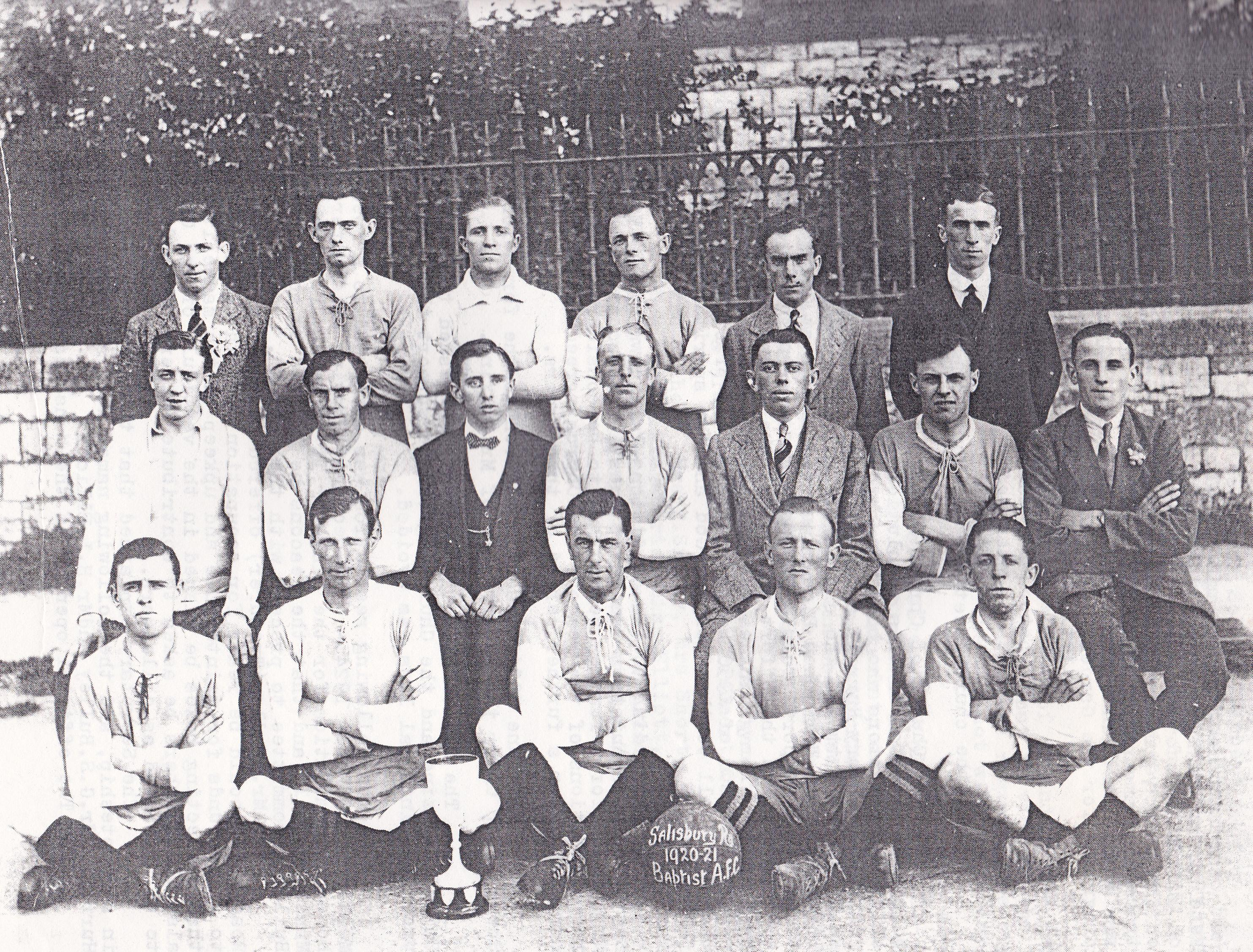 The Church Football Team, 1921.