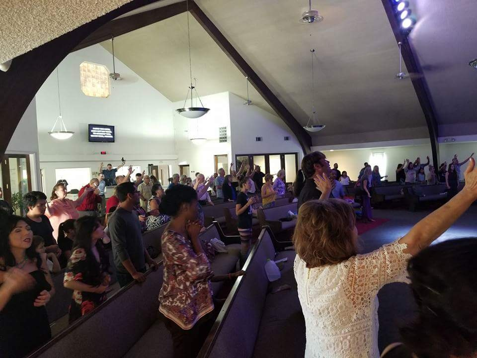 Church Members Worshipping