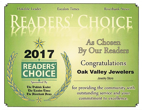 Oak Valley Jewelers Award 2017