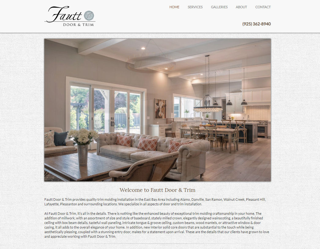 Fautt Door & Trim Website