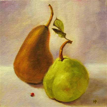 "Ladybug - 6""x 6"" Oil on Canvas Panel - Sold"