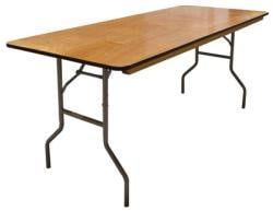 6' Rectangular Table (3 available) $8/day or weekend