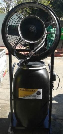 Climatizador Industrial com reservatório de 100 litros para obras
